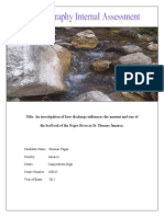 An Investigation of How Discharge Influences the Amount and Size of the Bed Load of the Negro River