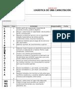 Check List Logistica de Capacitacion