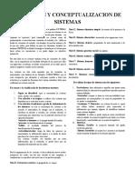 Definicion y Conceptualizacion de Sistemas
