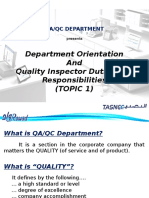 Topic 1 - QA-QC Department and QC Inspector Job