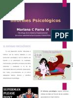 presentacion informes psicologicos