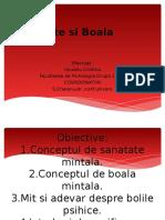 Sanatate Si Boala. Usurelu Cristina. Psihologia Clinica