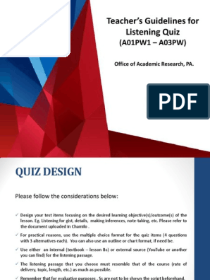 Research Design Quiz