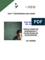 Módulo 0 - Guía Didáctica Del Alumno. Dificultades Aprendizaje