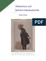Oliver Kloss - Utilitarismus u Individualrechte