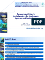 Research activities in the Laboratory for Underwater Systems and Technologies