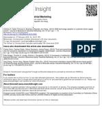 B2B Technology Adoption in Customer Driven Supply Chains