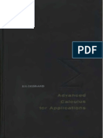 Advanced Calculus for Applications - Francis B Hilderand 1962