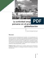 LA ACTIVIDAD EMPRESARIAL PERUANA (Lectura Para Examen de Comprension Lectora)