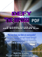Defy the Impossible Lo