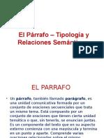 El Párrafo – Tipología y Relaciones Semánticas