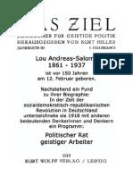 1918 Politischer Rat geistiger Arbeiter - Dokument