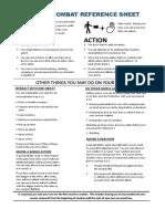D&D 5e Combat Cheatsheet
