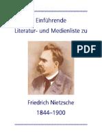 Einfuehrende Literatur- und Medienliste zu Nietzsche