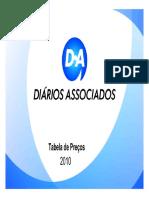 Tabela Precos Diarios Associados 2010
