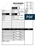 3 - REWIRED Character Sheet