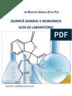 Guía de Laboratorio Química General e Inorgánica I-2016