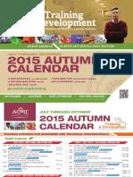 ASME Training and Development-Autumn-Calender