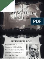 Abschied. Heinrich Böll