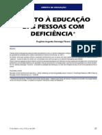 Direito à Educação Das Pessoas Com Deficiência