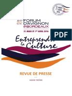 Revue de presse Forum d'Avignon @Bordeaux