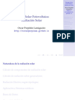Cálculo de RadiacionSolar