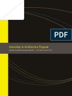 Internship in Architecture Program (IAP) Manual - CALA - 3rd Edition