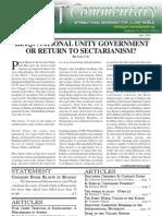 JUST Commentary, Vol. 10 No. 4, April 2010