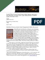 (Revisão) GENTILI, Pablo. Reforma Educacional e Luta Democrática