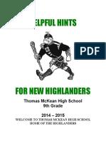 freshman packet 2014-2015