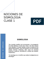 Ing Antisismica Clase 1 Nociones de Sismologia