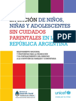 Situacion de Niños Niñas y Adolescentes sin cuidados parentales