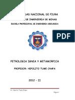 Petrologia Ignea y Metamorfica Ciclo 2012 II Setiembre ,- Diciembre