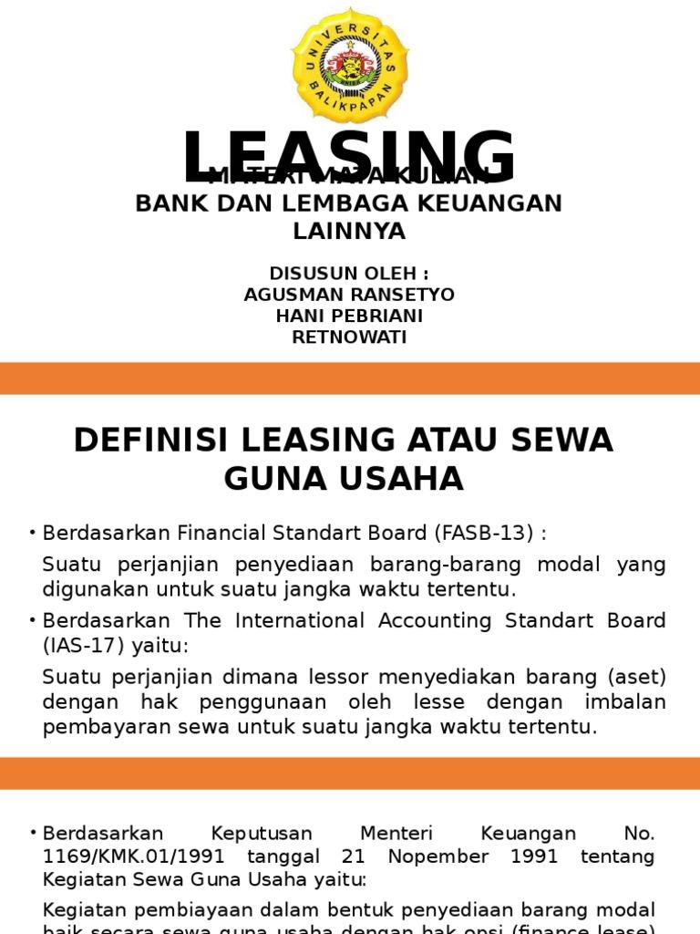 Apa Itu Leasing? Berikut Adalah Pengertian, Jenis, Dan Keuntungannya