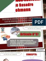 Articulo N°37 inciso ñ Tributacion Nacional 1