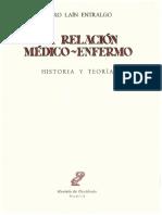 La n Entralgo P. La Relaci n Medico Enfermo Historia y Teoria (1)