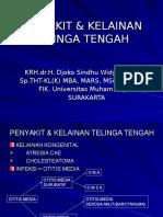 PENYAKIT & KELAINAN TELINGA TENGAH (dr. djoko sindhu ).ppt
