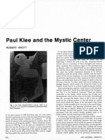 Paul Klee and the Mystic Center