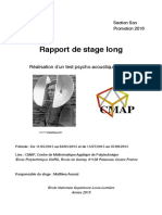 Rapport Stage Long Cedric PAYET