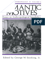 (History of Anthropology) George W. Stocking Jr.-romantic Motives_ Essays on Anthropological Sensibility-University of Wisconsin Press (1996)
