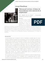 _Emmanuel Lévinas_ El Deseo de Trascendencia Como Esencia de La Subjetividad