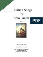 Brazil Songs for Solo Guitar 1