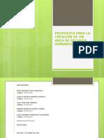Propuesta Para La Creación de Un Área de.pptx Power Point