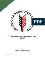 36687304 Estatutos Colegio de Periodistas Del Peru