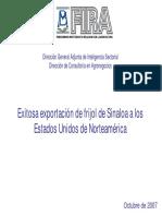 Exitosa Exportación de Fríjol de Sinaloa a Los Estados Unidos de Norteamerica