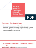 external context clues