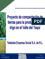Proyecto de Compactación de Tierras Para La Producción de Trigo en El Valle Del Yaqui