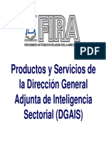 Productos y Servicios de La Direccion General Adjunta de Inteligencia Sectorial (DGAIS)