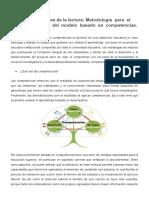 Metodología para el diseño curricular del modelo basado en competencias