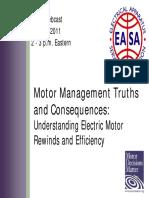 EASA Motor Repair Slides